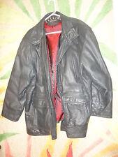 GIANNI CELLINI LINEA Exclusive Mens Black leather , Zipper, Buttons Coat Sz XXL