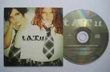 T.A.T.U. TATU All the things she said 2-track CDS Card sleeve