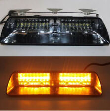 16 LED Car Police Windshield Flash Emergency Strobe Warning Light Amber Lamp 12V