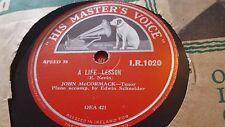 JOHN MCCORMACK A LIFE LESSON & A NECKLACE OF LOVE HMV IR1020