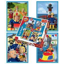 Trefl 4 In 1 35 + 48 + 54 + 70 Piece Boys Fireman Sam Fire Engine Jigsaw Puzzle