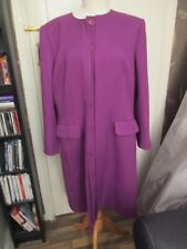 Women Ladies Aibert Nipon Long Elegant  Coat Size 16 Purple