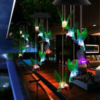 Solar Color Changing LED Wind Chimes Home Garden Yard Decor Hanging Lights Lamp