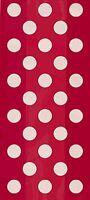 Rot Gepunktet - 20 Cellophanbeutel - (25cm X 13cm) - Punkte Geburtstagsparty