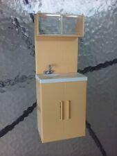 "2006 Mattel Doll House Kitchen Sink 10.5"" Cabinet Plastic Toy Furniture Toy"