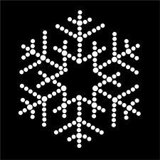HotFix Diamante Snow Flake Winter Transfer iron on motif for t-shirts bags -No12