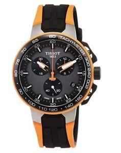Tissot T111.417.37.441.04 T-Race Orange Cycling Watch Men's T1114173744104
