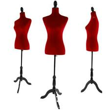 Red Female Mannequin Dress Form Display With Black Tripod Stand Designer Pattern