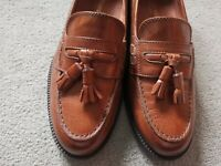 Russell & Bromley Tan Brown Leather Loafers EU40.5 UK7.5 'barely used' condition