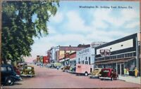 Athens, GA 1940s Linen Postcard: Washington Street, Looking East - Georgia