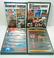 Horror Movies Lot of 4 DVD's Wishmaster 1 + 2 Midnight Horror Collection Tested