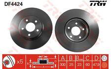 TRW Juego de 2 discos freno Antes 300mm ventilado FORD FOCUS VOLVO S40 DF4424