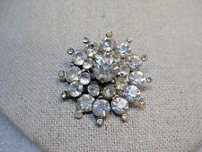 """Vintage Coro Rhinestone Blossom/Snowflake Brooch, 1950's, 1.5"""""""