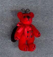 Dollhouse Silver Pearl Suede Micro Bear World of Miniature Bears 1:12 Miniatures