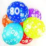 80th Ballons Anniversaire avec Imprimé chiffres fête latex qualité - Paquet de