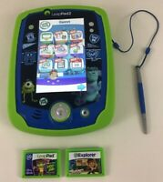 Leap Frog Leappad 2 Disney Monsters University Learning Game System Lot w Games