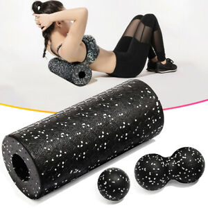 1 Set Roll Faszienrolle Massagerolle Fitness Sport Yoga Pilates Black