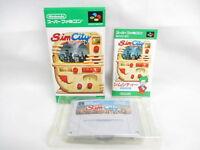 SIM CITY Super Famicom Nintendo Japan Game sf