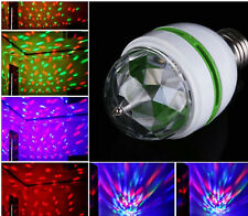 E27 6W Rotating Light Bulb Colorful Auto LED Stage Light Party Lamp Disco Bulb