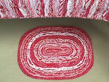 Linens n Things Nursery / Girls Indie Shabby Chic Frill Oval Floor Rug