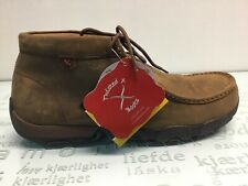 Twisted X MDMST01 Driving Mocs Steel Toe Lace Up Work Shoes Men's size 12 W.⭐️