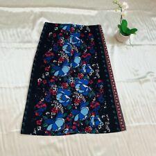 TU Corduroy A Line Skirt Floral Retro Boho Bohemian Gypsy Style
