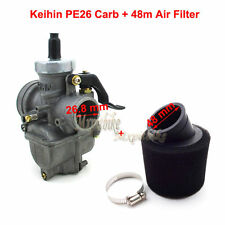 26mm Carburetor+48mm Air Filter For Keihin PE26 Pit Dirt Bike ATV 125 140 150cc
