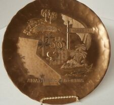 """Anaheim, California 1995 Wendell August Forge Solid Bronze 8 3/4"""" Plate"""