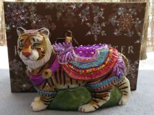 Jay Strongwater Carousel Tiger Ornament with Swarovski Elements New in Box