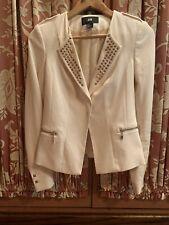 H & M IVORY Balmain Look Blazer Studs Embellished Size 4 HM