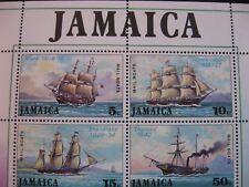 Jamaïque: 1974 Courrier Paquet Bateaux mini feuille neuf sans charnière