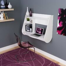 Floating Computer Desk Wall Mount Writing Table Laptop Home Office Storage Shelf
