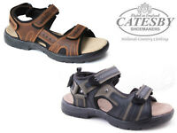 Mens Boys Summer Sandals Catesby Leather Walking Hiking Touch Fastening Shoes