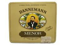 Dannemann Menor Sumatra Cigar Metal Tin Cigar Advertising Germany EMPTY Vintage