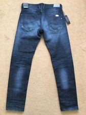 "REPLAY MASIG Men's Regular Slim Fit Dark Blue Jeans, Size W32"", L32"", £145"