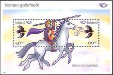 Islandia 2004 mitología nórdica/Odin/caballo/Aves/mitos/animales/animación m/s n11894