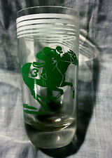 Unusual Vintage 1950's Horse Racing Glass Must See!