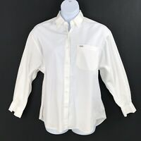 Vtg 80s Guess Georges Marciano Womens Button Front Shirt Large Oversized White