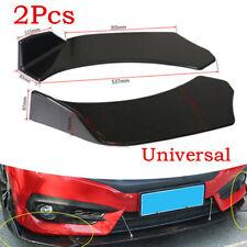 2Pcs/set Black Car Front Bumper Lip Wing Splitter Spoiler Body Kit Molding Part