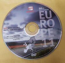 SEDILE originale media systaem e disco di Navigazione SAT NAV Mappa Eur UK 2011 VER DVD1