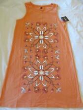NWT 8 10 Tea Collection Gia Orange Floral Tank Knit Dress