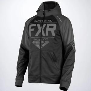 FXR Men's Ride Tech Full Zip Black Ops HOODIE Sweatshirt - Size XL - NEW