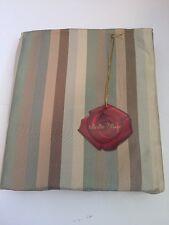 """Bella Rose By Chateau Euro Pillow Sham Stripe Brown Tan Green NIP 26"""""""