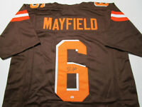 BAKER MAYFIELD / CLEVELAND BROWNS / AUTOGRAPHED CUSTOM FOOTBALL JERSEY / COA