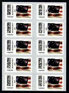 APC / CVP / ATM #CVP108 Full Sheet of 10 USPS Eagle Overprint ERRORS, Flag stamp