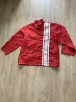 Vintage 1960's Nylon Racer Jacket XL Red VINTAGE