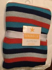 Bananafish Studio Anchors Away Stripe Knit Blanket: NEW!