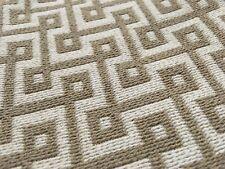 Thibaut Beige Geometric Weave Upholstery Fabric- Circuit / Sand 1.50 yd W74335