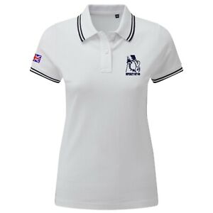 Women's Skin Head Spirit Of 69 Polo Shirt With Embroidered Logo. Two-Tone Ska