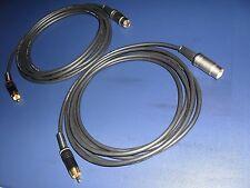 12 mtr. - SHQ RCA (Pré-Amp) à b&o Beolab 3/9/4000 (Mk2)/6002/8002 Câbles (Paire)